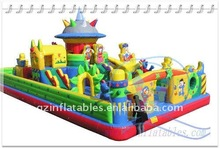 Qing Ling big kids inflatable fun city for amusement