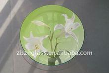 round glass plate/glassware