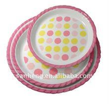 melamine round tray