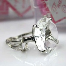Brand New Beaded Crystal Napkin Ring Serviette Holder MH-9212