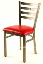 PVC seat Metal Frame Dining Restaurant Chairs