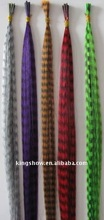 Feather colorful synthetic hair extension