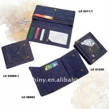 new design top seller stylish credit denim wallets