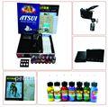 Kit tattoo profissional lcd poder 1 máquinas armas 1 grips agulhas da máquina de abastecimento de tinta