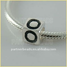 2012 Hot sale sterling silver alphabet beads