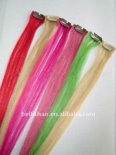 2012 hot sell colored one piece remy clip in hair extension wholesale