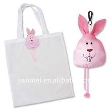 kids rabbit folding shopping bag