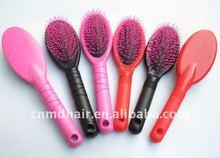 hair brush, red