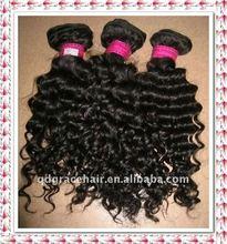 natural color dep curl 100% human hair extension 4oz