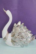 De alta calidad de la artesanía de cerámica, cisne de cerámica, arte de cisne