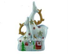 New sample! White Ceramic Christmas Decoration Christmas deers