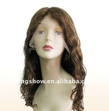Super quality mono top remy human hair lace front wig