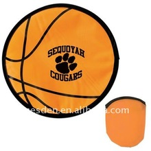 Basketball Nylon Folding Frisbee