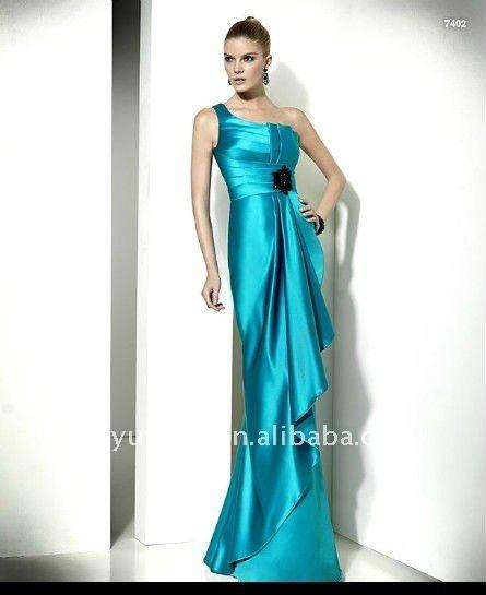 One-shoulder floor-length evening dress LSP-007 best popular ...