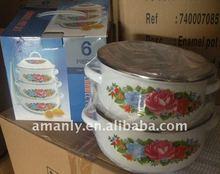 6pcs enamelware