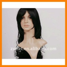 Fashion 90cm Wavy 36inch SILVER GREY Long Fringes Curly COSPLAY WIG