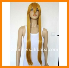 Fashion 100cm 40inch TEA BROWN long Straight WOLF AND SPICE Cosplay Wig