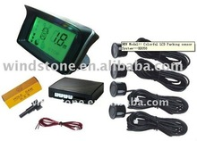 wireless reversing system colorful LCD display parking sensor w/ 4 sensors