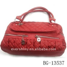 2011 fashion new design red pvc brand handbag