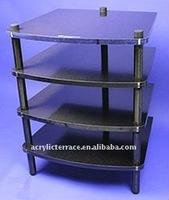 Clear Acrylic Free Standing Bathroom Shelf