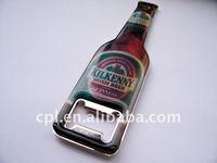 OEM Premium gift printing metal Bottle shape beer opener