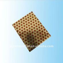 Foil paper in bells desifn for chocolate packaging