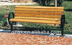 Outdoor park wood bench QX-11132G