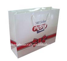 paper laminated promotional shopping packing bag