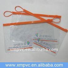 File plastic ziplock pvc bags wih orange handle XYL-D-Z064