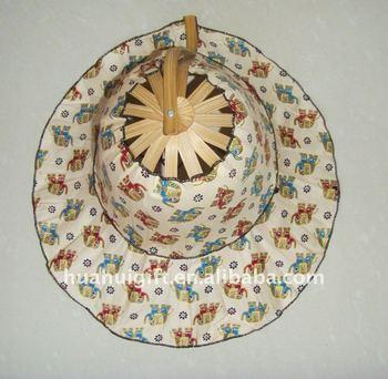 folding fan hats
