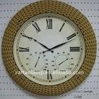 Handmade rattan art decorative wall clock