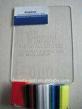 transparent plexiglass cast acrylic board