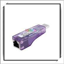 Purple USB To LAN RJ45 10/100 Ethernet Network Card Adapter