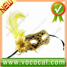 Flower Feather Mask