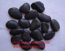 Polished black rock