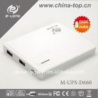 6600mAh portable battery chargers for cell phone,
