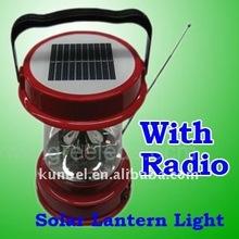 2012 hot selling Solar LED Lantern Light with radio