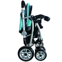 Standable Blue Baby Stroller