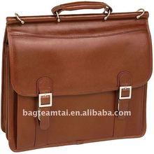 Double Compartment Faux Leather Laptop Briefcase