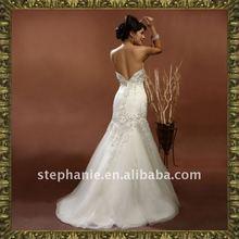 (A6046) Stephanie Perfect Embroidery Elegant Muslim Wedding Dress 2011