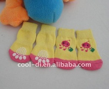 pink pet socks shoes for small dogs PS07