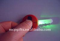 pvc led flashlight keychain