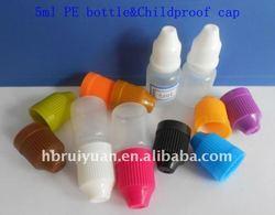 15&20ML&5ml Child-proof cap PE drop bottle 100pc/lots For liquid medicine,paint, essence, electronic cigarettes,