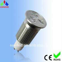 2011 new and hot sale 3*2W LED light bulb gu10