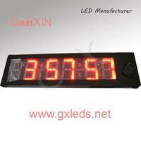 red number 8inch 6digit large outdoor azan digital clock alarm