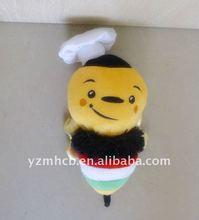 fashion design stuffed bee toys/plush toy bee