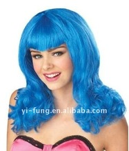 Dress Up your Pop Star or Rock costume in this Blue Teenage Dream Wig for Adults