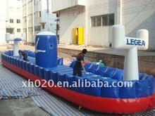 2012 Endless fun new arrive outdoor or indoor commercial grade vinyl tarpaulin inflatable bungee basketball