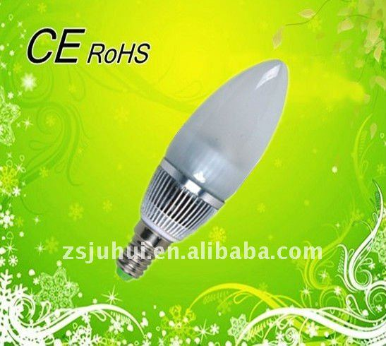 Dimmable E14 LED Candle Bulb 3W with Factory ,High Brightness