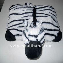 factory supply cute plush Zebra pillow &plush animal pillow